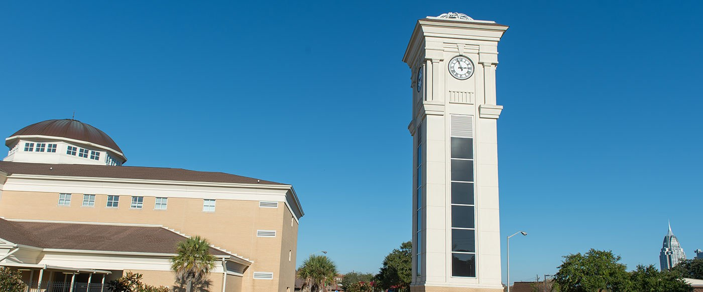 Bishop State clock tower and Kennedy Building