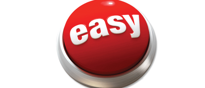 Red Button that reads Easy