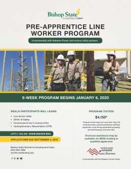 Bishop State Lineworker Program Flier
