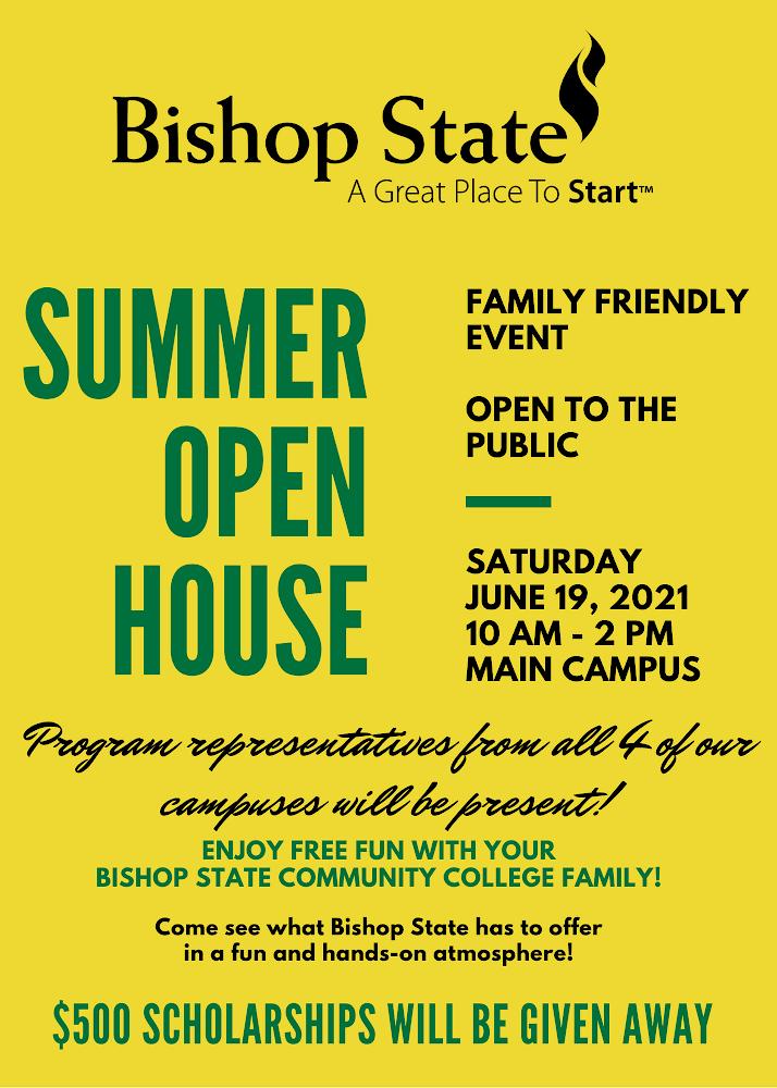 Bishop State Summer Open House