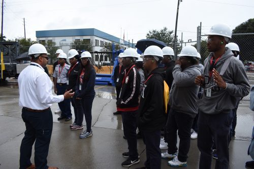 Chickasaw High School students tour Austal USA for Manufacturing Day