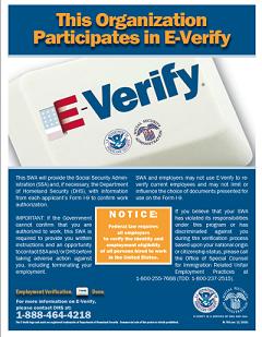 E Verify Poster