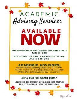 Fall flyer Advisement Center 257x333