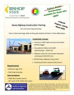 Heavy Highway Construction Training Flyer