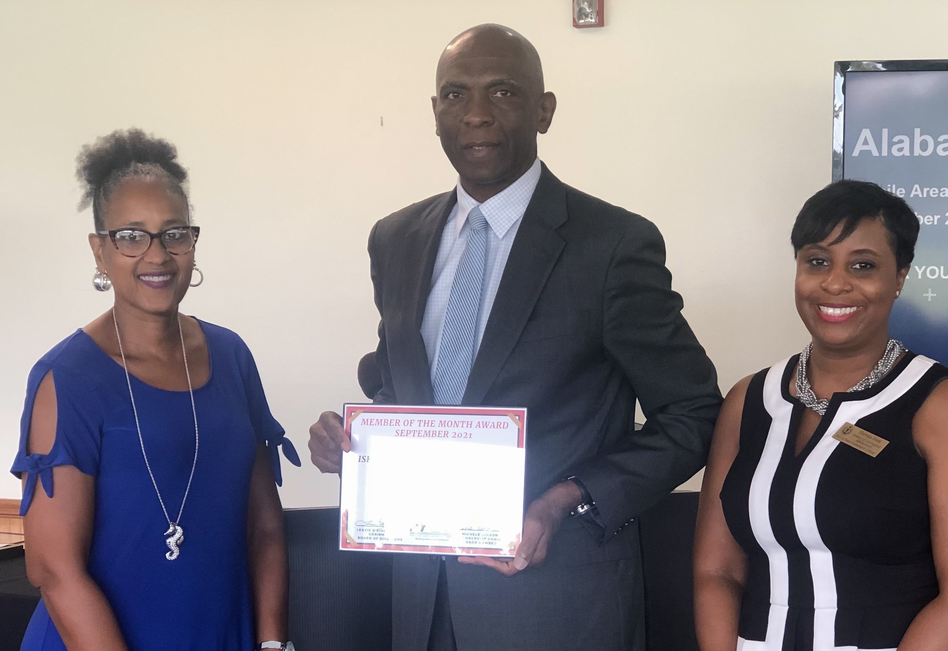 Bishop State MABC's September Member of the Month