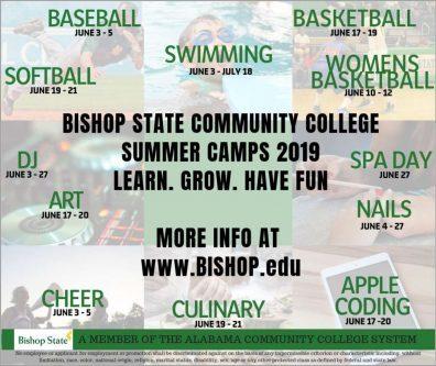 Summer Camps 2019 Flier