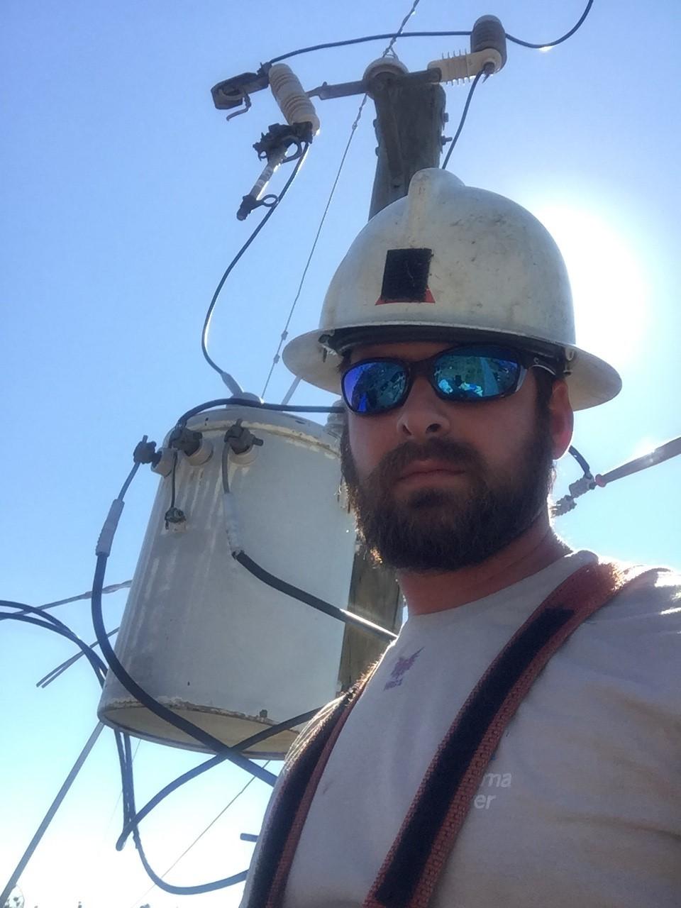 John Burge working near power line
