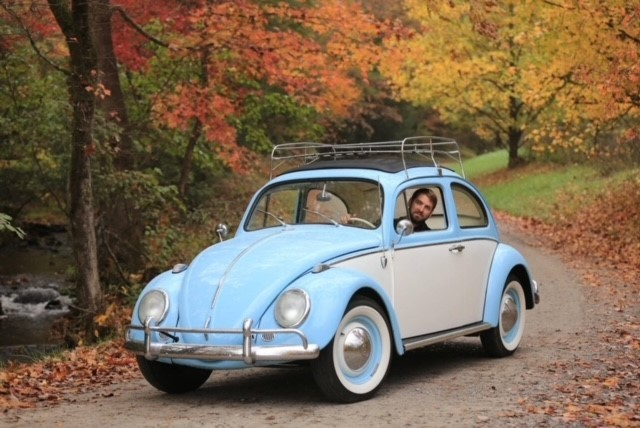 John Burge loved driving his antique VW Beetle. (contributed)