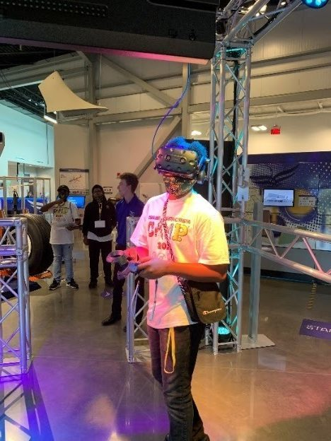 Wildcat Contraption Camp - students at FlightWorks at Airbus